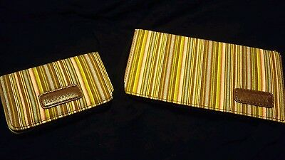 000 Longaberger Homestead card holder and checkbook cover Stripes Pattern
