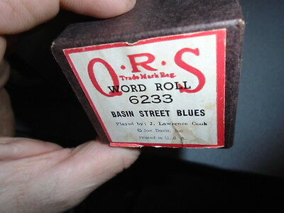 Vintage QRS Word Piano Roll 6233 Basin Street Blues Player J.Lawrence Cook