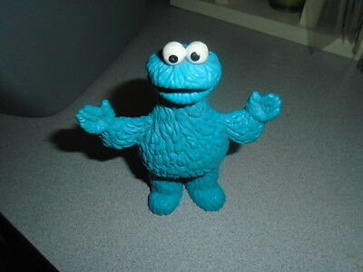"""Vintage Jim Henson Productions Cookie Monster Figure Applause 5"""" tall"""