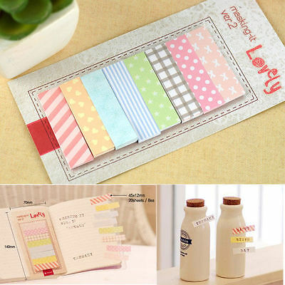 160 Pages Sticker Post It Bookmark Point Marker Index Tab Notepad Sticky Notes