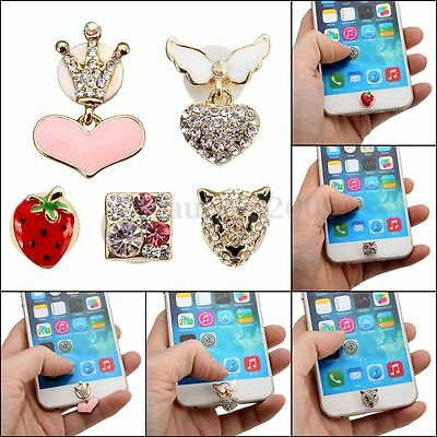 3D Crystal Bling Home Button Sticker For Apple iPhone 4 4S 5 5S 6 6 Plus iPad