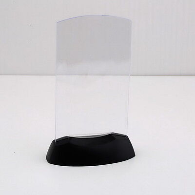 Acrylic Flashing Led Light Table Menu Restaurant Card Display Holder Stand LO