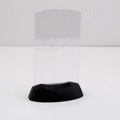 Dual-Side Acrylic Led Light Table Menu Restaurant Card Display Holder Stand LO