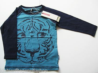 LA Shirt Tiger Gr.86 Name It NEU m.E blau Raglan