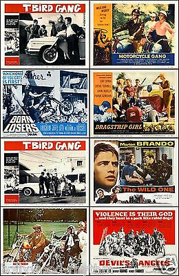 BIKERS And HOT RODS HELL'S ANGELS BRANDO Set Of 8 Individual 11x14 Prints