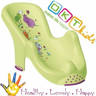 "Anatomic baby bath  chair tub seat  ""Hippo"" OKT Kids -IML techn. Brand NEW Green"