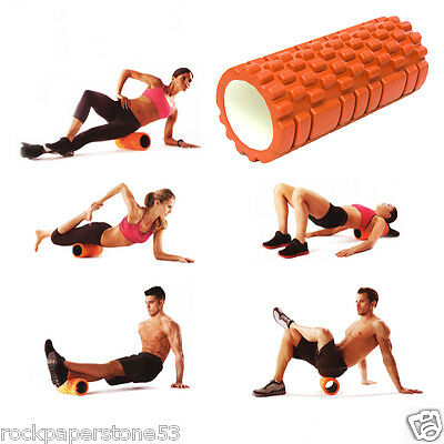 FitBodz Trigger Point Foam Roller Grid Sports Massage Exercise Yoga Physio Gym