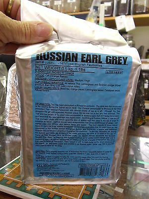 RUSSIAN Earl Grey Loose Leaf Black Tea (1/4 - 1.1 lbs) Vacuum Sealed Package