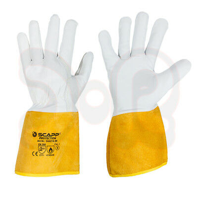 Scapp Protection Wig Soldering Gloves Size 9-11 -PREMIUM- Goat Leather TIG