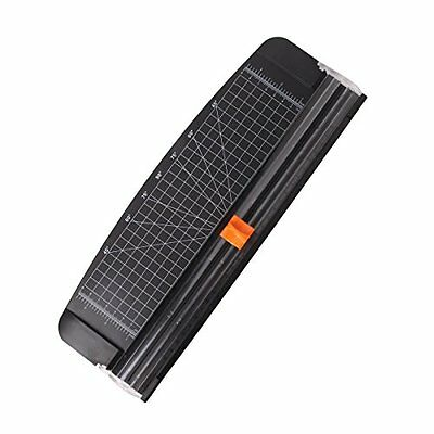 JLS 280g 12 Inch A4 Paper Cutter Trimmer Black with Multi Function Automatic