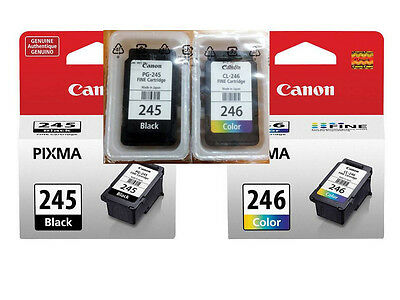 Genuine Canon 245 246 black/color Ink Cartridges for MG2922 MX490 MX492 Printer