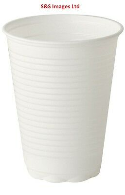 White Plastic 7oz Disposable Cups Drinking Water Coolers Glass Vending Style Cup