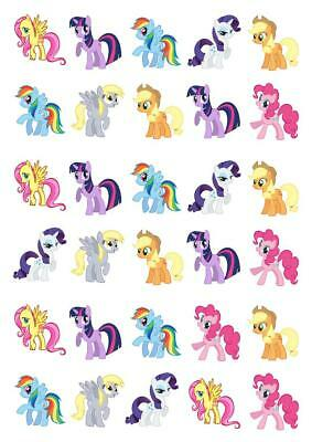 MY LITTLE PONY PINK & BLUE BIRTHDAY EDIBLE CUPCAKE TOPPERS RICE PAPER CCT202 Home, Furniture & DIY Decorations & Cake Toppers