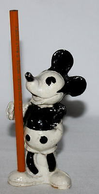 """X!DISNEY1930'sHAND PAINTED MICKEY MOUSE COMPOSITION FIGURAL""""PEN&PENCIL HOLDER ++"""