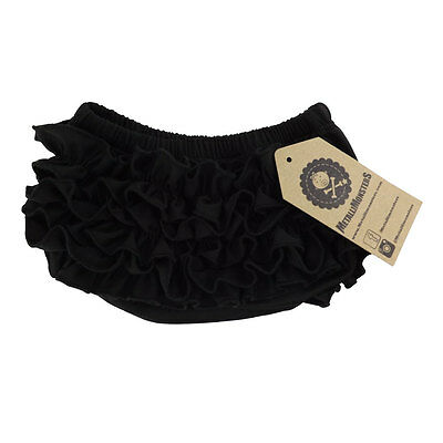 Metallimonsters plain black ruffle baby bloomers alternative rock metal goth
