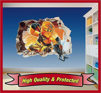 Lego Ninjago Skylor Hole in Wall - Printed Vinyl Sticker Decal Childrens Bedroom