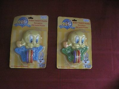 Brand New Baby Looney Tunes Tweety Bird Green Rattle