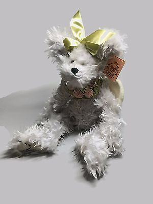 BEARINGTON COLLECTION Grey Plush Bear with Angel Wings FAITH  gift for her