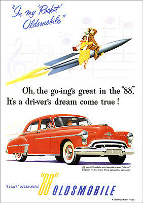 Oldsmobile 88 Olds Retro A3 Poster Print From Advert 1952