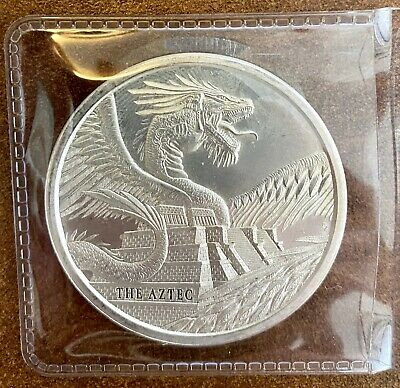 The Aztec 1 oz Silver Round Coin | World of Dragons - #1 of 6 - IN-STOCK!!