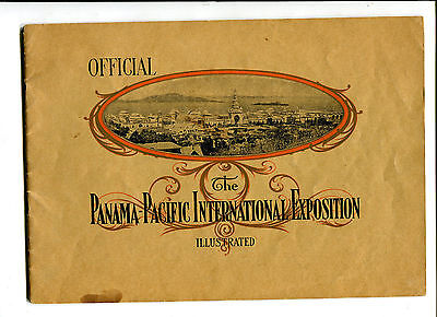 Vintage PPIE OFFICIAL ILLUSTRATED Guide Book  Worlds Fair 1915