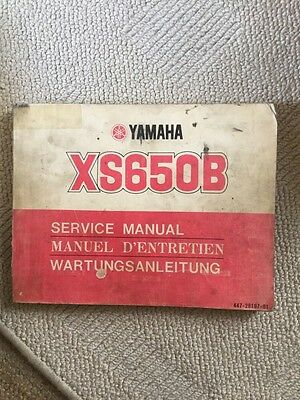 Yamaha XS650 B Service Manual Genuine