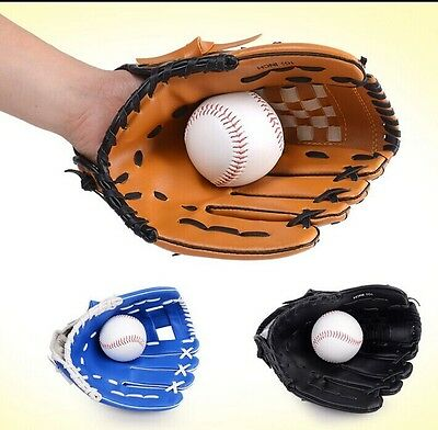 10.5'' Baseball Glove Softball Mitts Youth Outdoor Team Sports Left Hand
