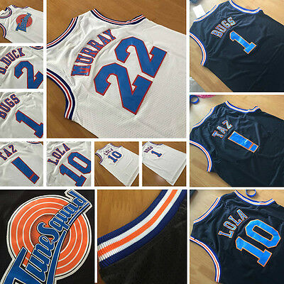 Space Jam Basketball Jersey LOONEY TOONES Tune Squad Jersey Black/White