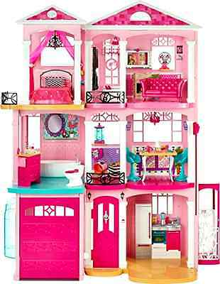 Barbie Doll Dreamhouse Interactive 3 Story Furniture Girl New Toy Pink Hot