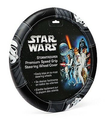 3c54dbef779593 Star Wars Darth Vader Steering Wheel Cover Plasticolor 006736R01 Speed Grip  New