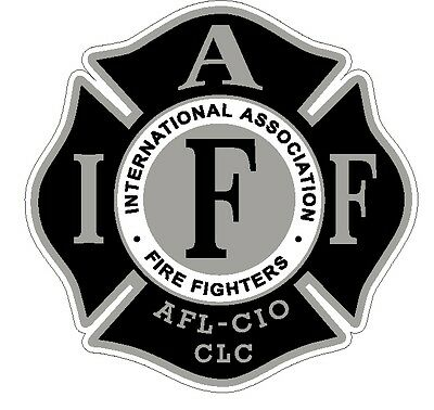 """4"""" IAFF Decal Black and Silver Exterior Mount Please Read Auction"""