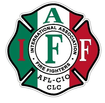 """4"""" IAFF Decal Exterior Mount Italian Flag Pattern Please Read Auction"""