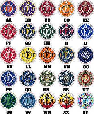 """Four 4"""" IAFF Firefighter Decals Stickers Exterior Mount Please Read Auction"""