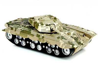 RC Flighting Tank 4CH 1:32 Military Battle Remote Control Plastic Vehicle Toys