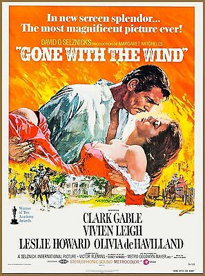 Gone With The Wind Movie Georgia United States Travel Advertisement Poster