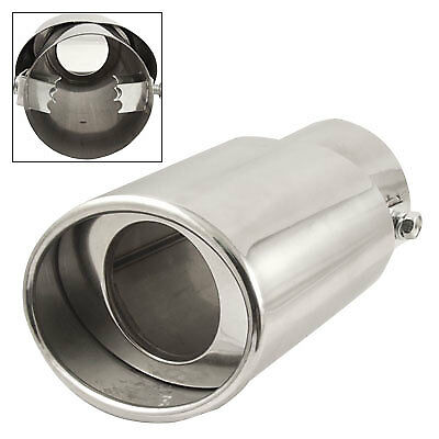 """2.5"""" Inlet Slant Cut Double Layer Metal Exhaust Muffler Tip for Car"""