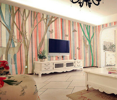 3D Colorful Forest 1 Wall Paper Wall Print Decal Wall Deco Indoor Wall Murals