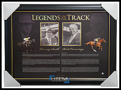 Bart Cummings & Tommy Smith Signed Legends of Turf L/E Horse Racing Print Framed