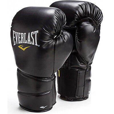 Everlast Protex 2 Heavy Boxing Punch Bag Training Gloves - Black
