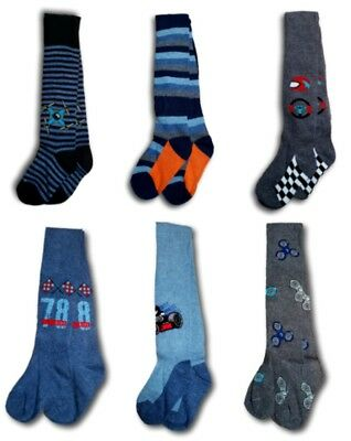 Boys Kids Children Rich 80% Cotton Warm Soft Colorful Tights Size 4-7 Years