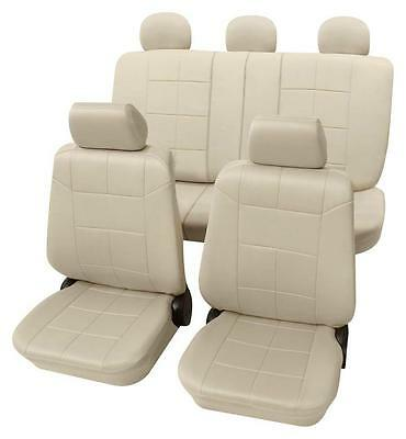 Beige Seat Covers with a Classy Leather Look - For VW  TOUAREG 2002 to 2010