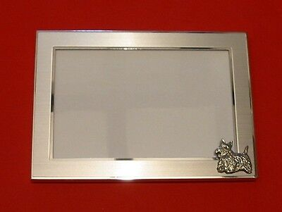 Scottish Terrier Dog Motif 4 x 6 Photo Picture Frame Father Mother Scottie Gift