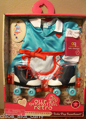 American Our Generation Soda Pop Sweetheart Retro Diner Doll Outift Clothes set