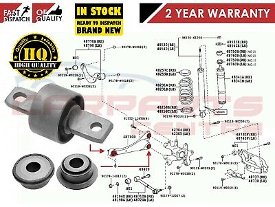 For Toyota Avensis 2.0 1.8 D4D 2009 Onwards Rear Trailing Arm Bush Oe Quality