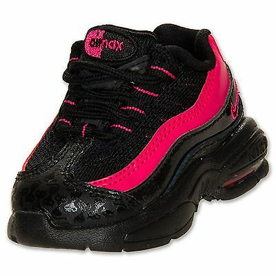 New! Nike Girls (TD) Air Max 95 Running Shoe-Size 3-Style 310832-001  78F il