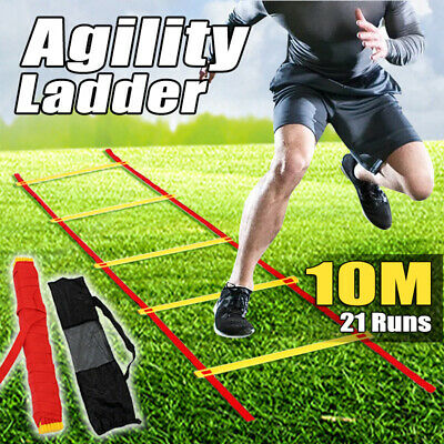 Agility Speed Sport Feet Trainning Ladder 8M-Soccer Fitness Boxing 21 Rungs