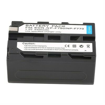 NEW 7.2V 4400MAH Replacement Li-Ion Battery for Sony NP-F750/770 /730 LO