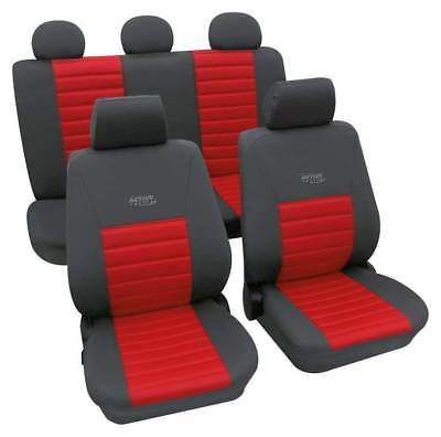 Sports Style Car Seat Covers - Grey & Red - For Audi A3 2003-2012