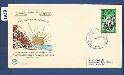 1965 Papua New Guinea FDC Anzac 2/3 Port Moresby Wesley (8761)