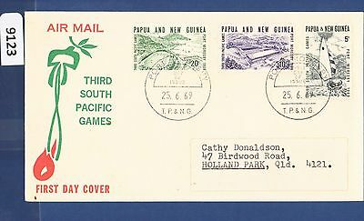 1969 Papua New Guinea FDC South Pacific Games (3) Port Moresby Addressed (9123)